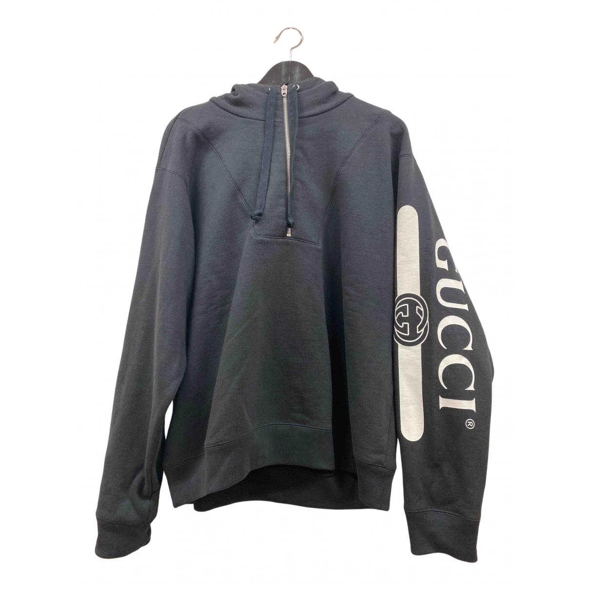 Gucci \N Pullover.Westen.Sweatshirts  in  Schwarz Baumwolle