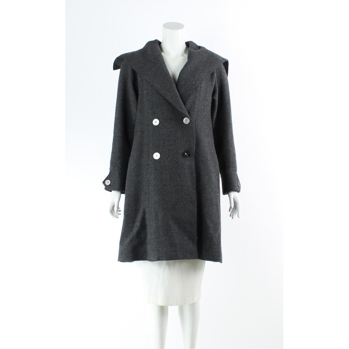 Chanel - Manteau   pour femme en laine - gris