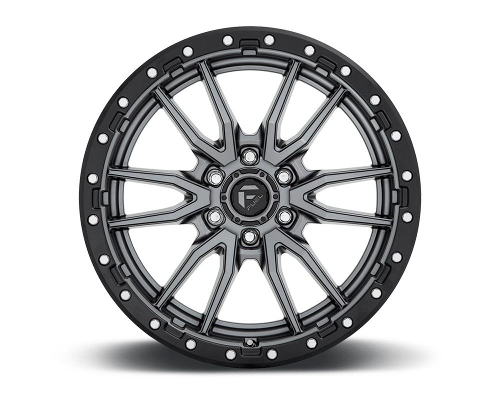 Fuel D680 Rebel Anthracite Center w/ Black Lip 1-Piece Cast Wheel 18x9 6x139.7 01mm