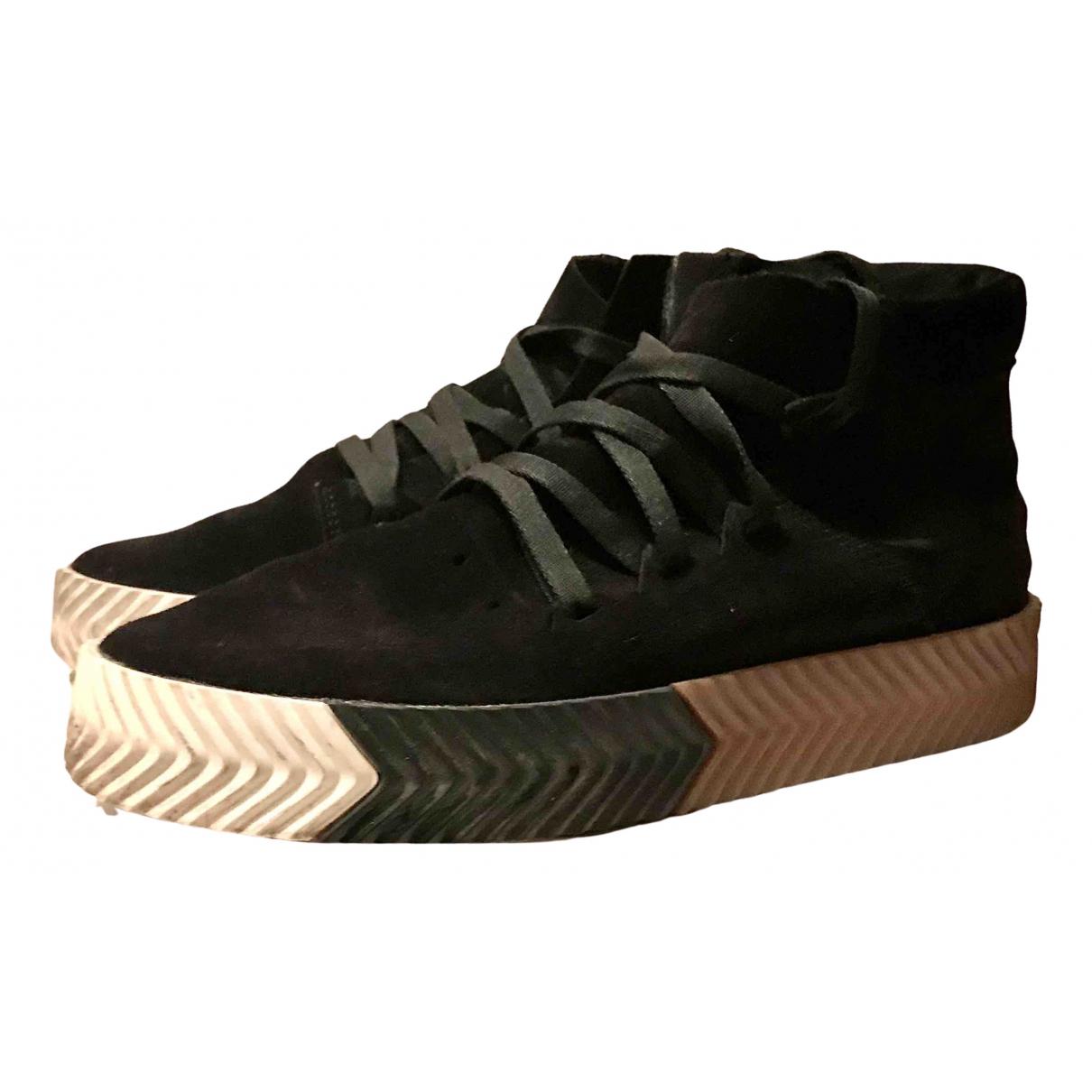 Adidas Originals X Alexander Wang \N Sneakers in  Schwarz Veloursleder