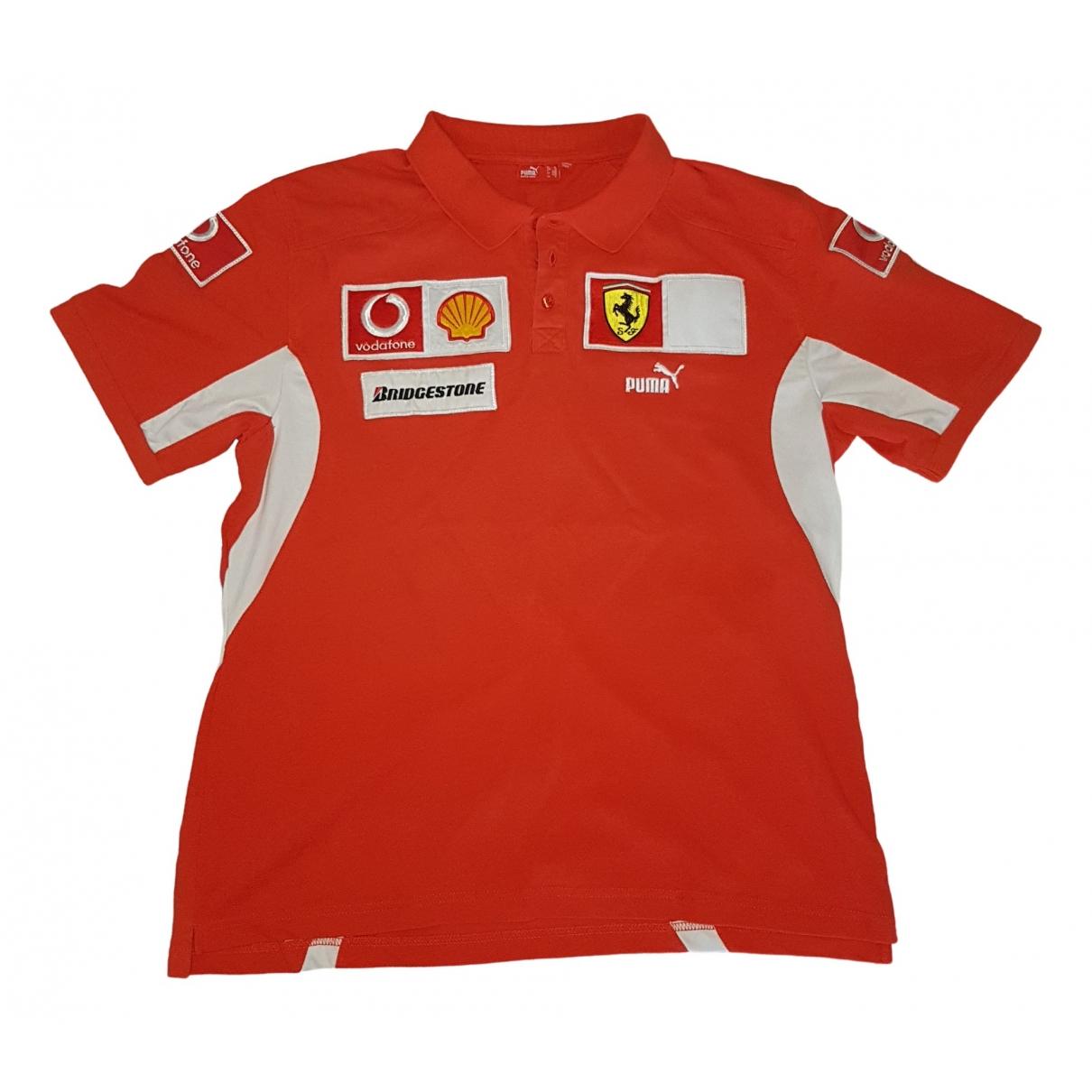 Puma - Tee shirts   pour homme en coton - rouge