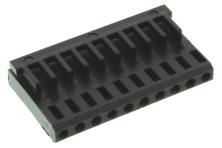 TE Connectivity , AMPMODU MOD IV Female Connector Housing, 2.54mm Pitch, 10 Way, 1 Row (10)