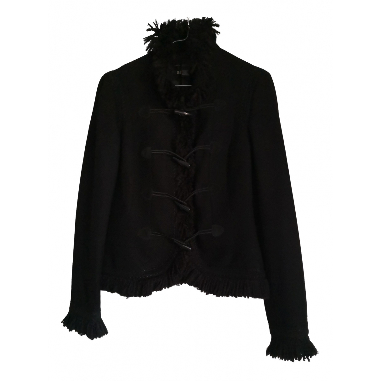 Zara - Veste   pour femme en laine - noir