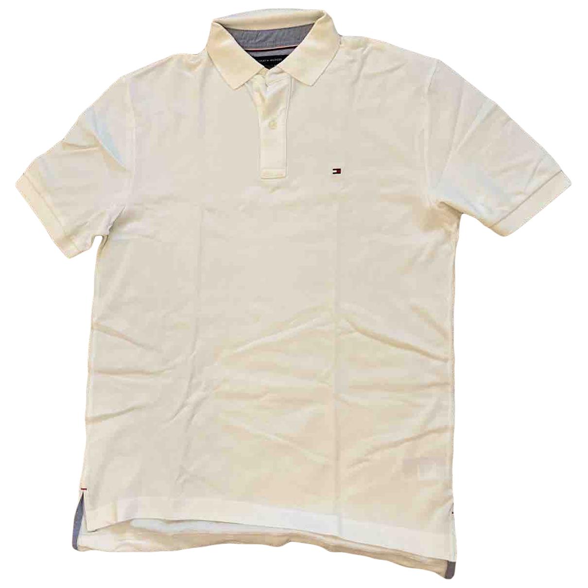 Tommy Hilfiger - Polos   pour homme en coton - blanc