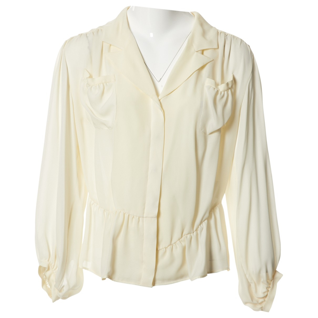 Balenciaga \N Ecru Silk  top for Women 38 FR
