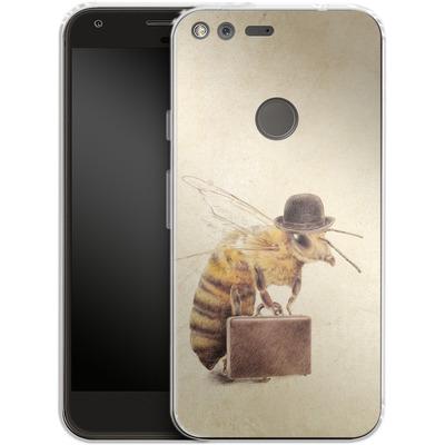 Google Pixel Silikon Handyhuelle - Worker Bee von Eric Fan