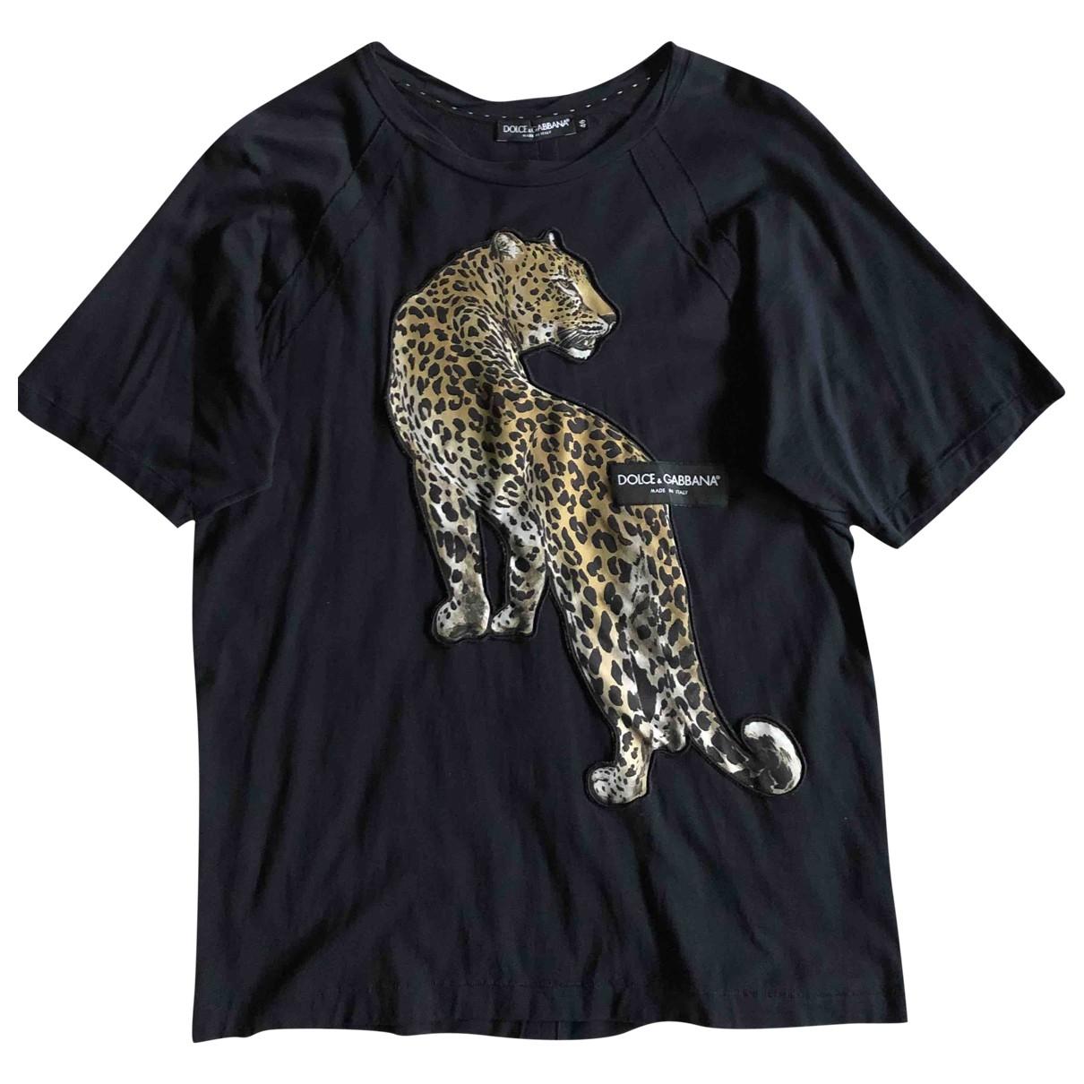 Dolce & Gabbana - Tee shirts   pour homme en coton - marine