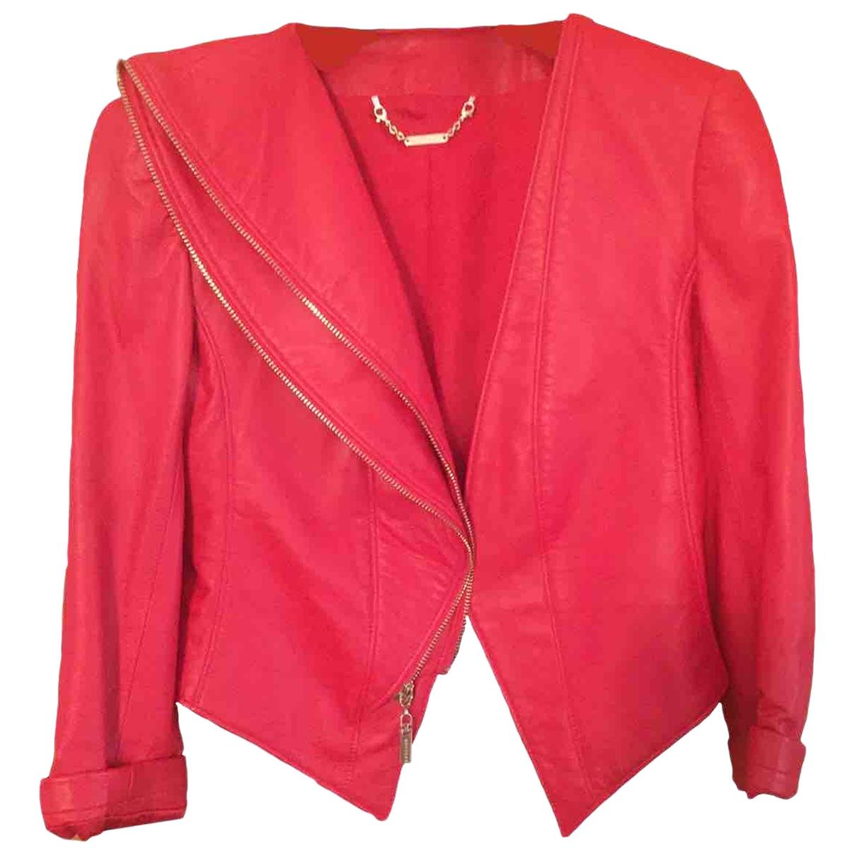 Mangano \N Jacke in  Rot Leder