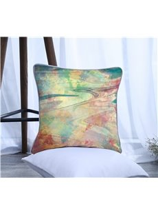 Colorful Painting Pattern Polyester One Piece Decorative Square Throw Pillowcase