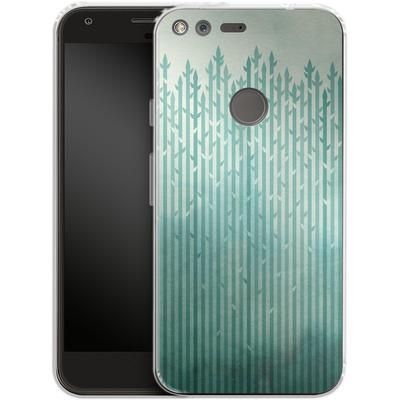 Google Pixel Silikon Handyhuelle - Misty Morning von Little Clyde