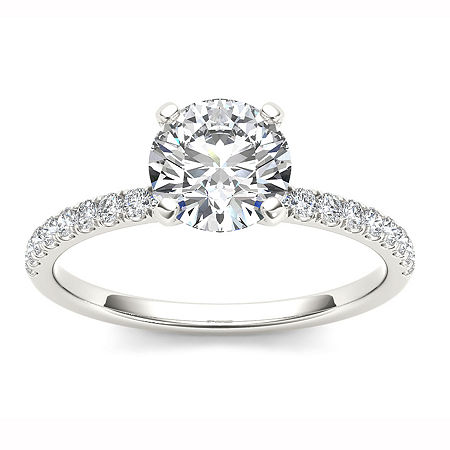1 1/4 CT. T.W. Round White Diamond 14K Gold, 8 1/2 , No Color Family