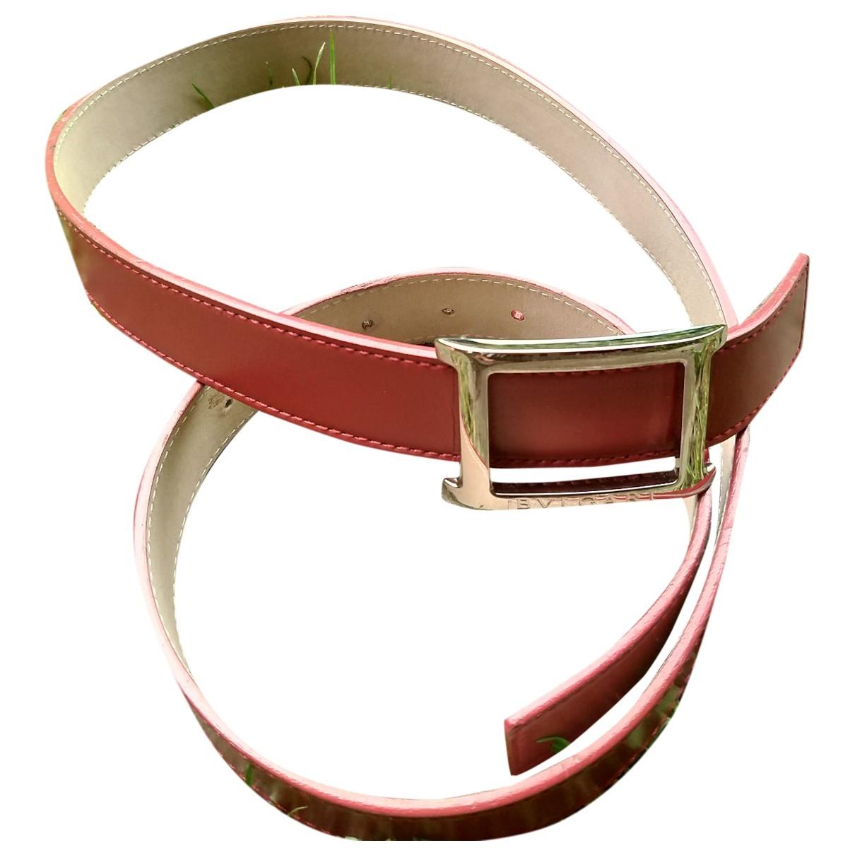 Bvlgari \N Red Leather belt for Women M International