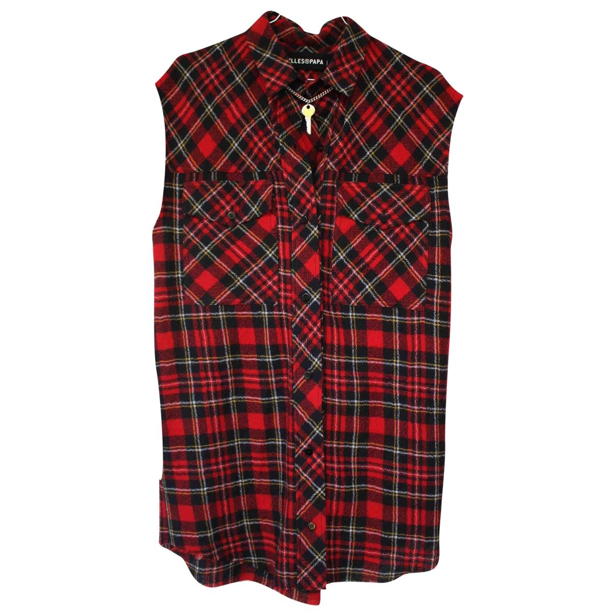 Filles A Papa - Robe   pour femme en laine - rouge