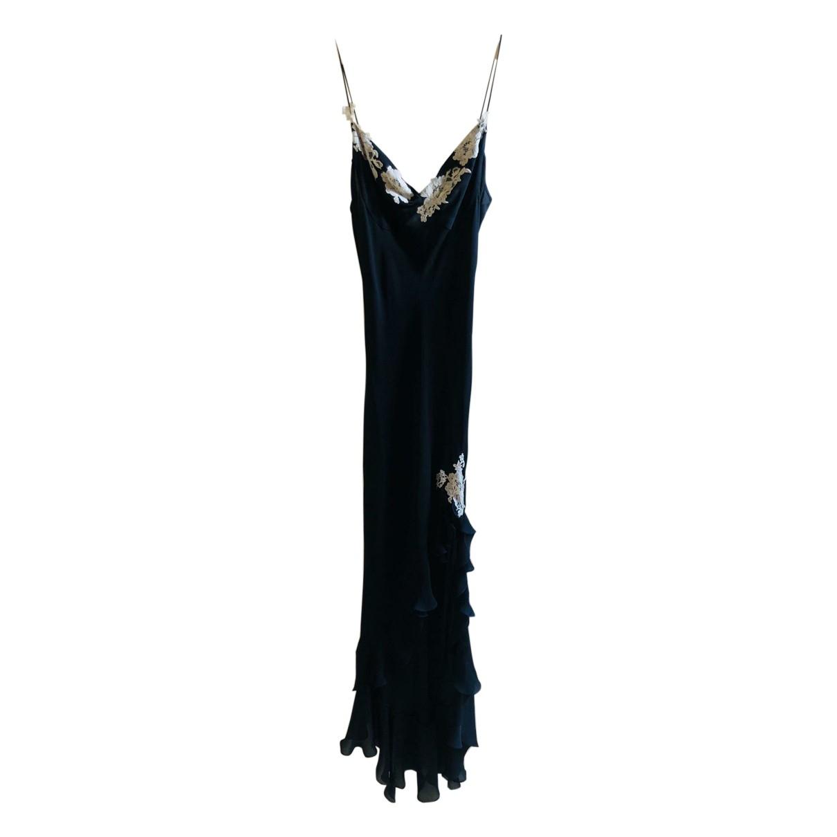Maria Grachvogel \N Kleid in  Schwarz Seide