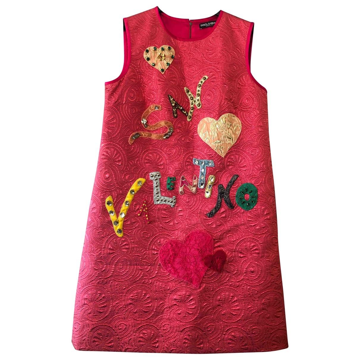 Dolce & Gabbana \N Pink Wool dress for Women 44 IT