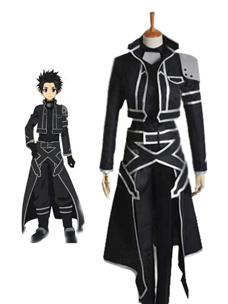 Milanoo Inspired By Sword Art Online Kirigaya Kazuto Halloween Cosplay Costume Halloween