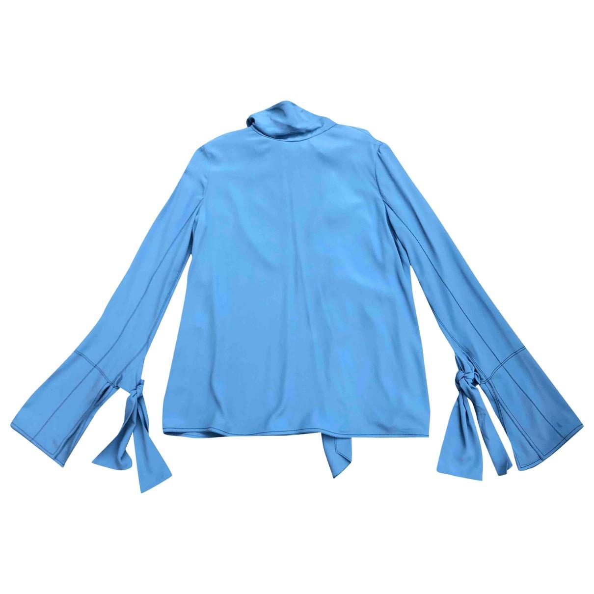 Marni \N Blue Silk  top for Women 42 IT