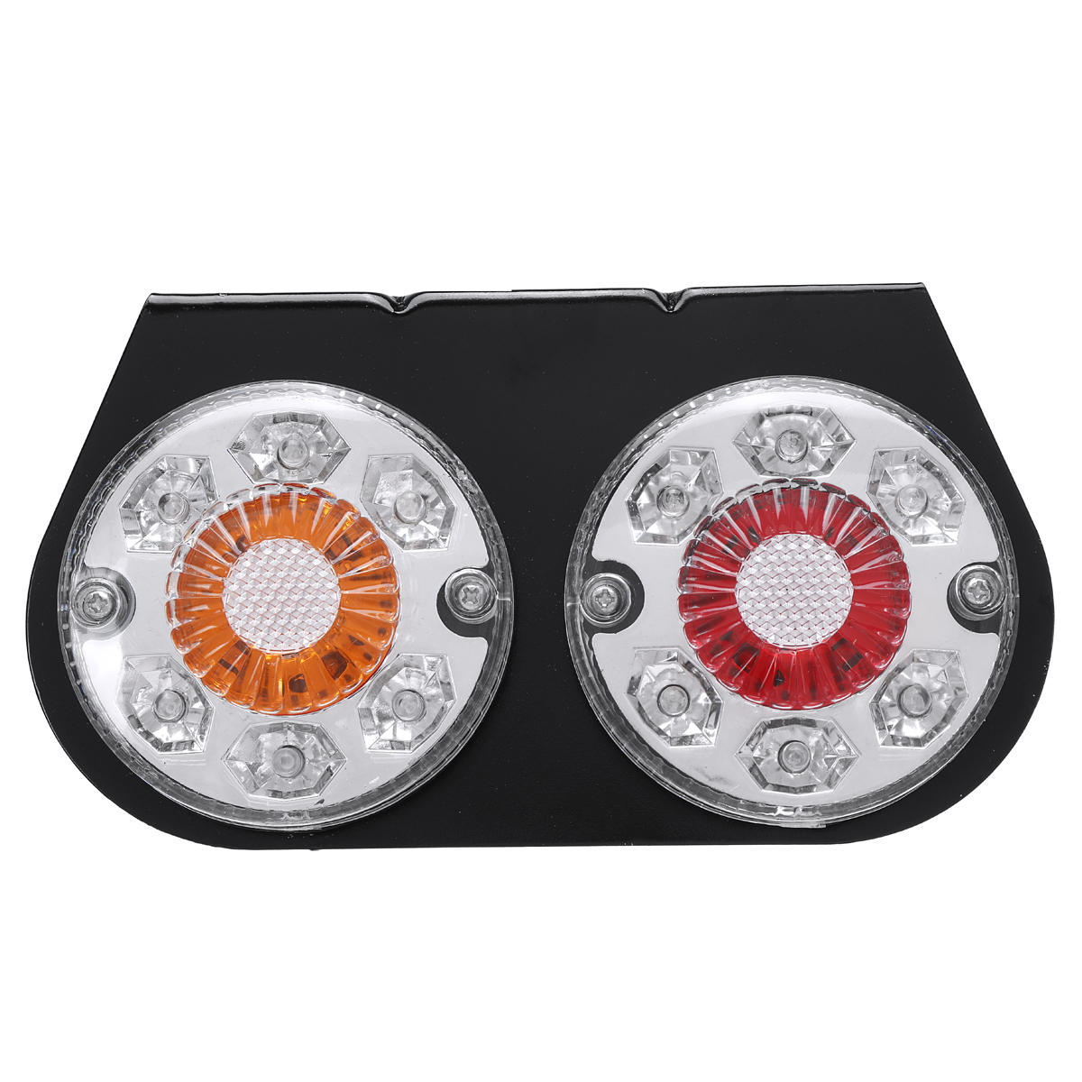 12V 20 LED Indicator Stop Rear Tail Lights For Boat Car Truck Trailer Iron Bracket