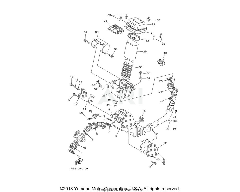 Yamaha OEM 5B4-E4325-00-00 SCREW, PAN HEAD