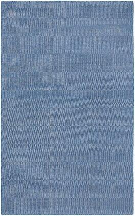 TSTTW292200330810 Twist TW2922-8 x 10 Hand-Woven Reversible Dhurrie New Zealand Wool Blend Rug in Blue   Rectangle