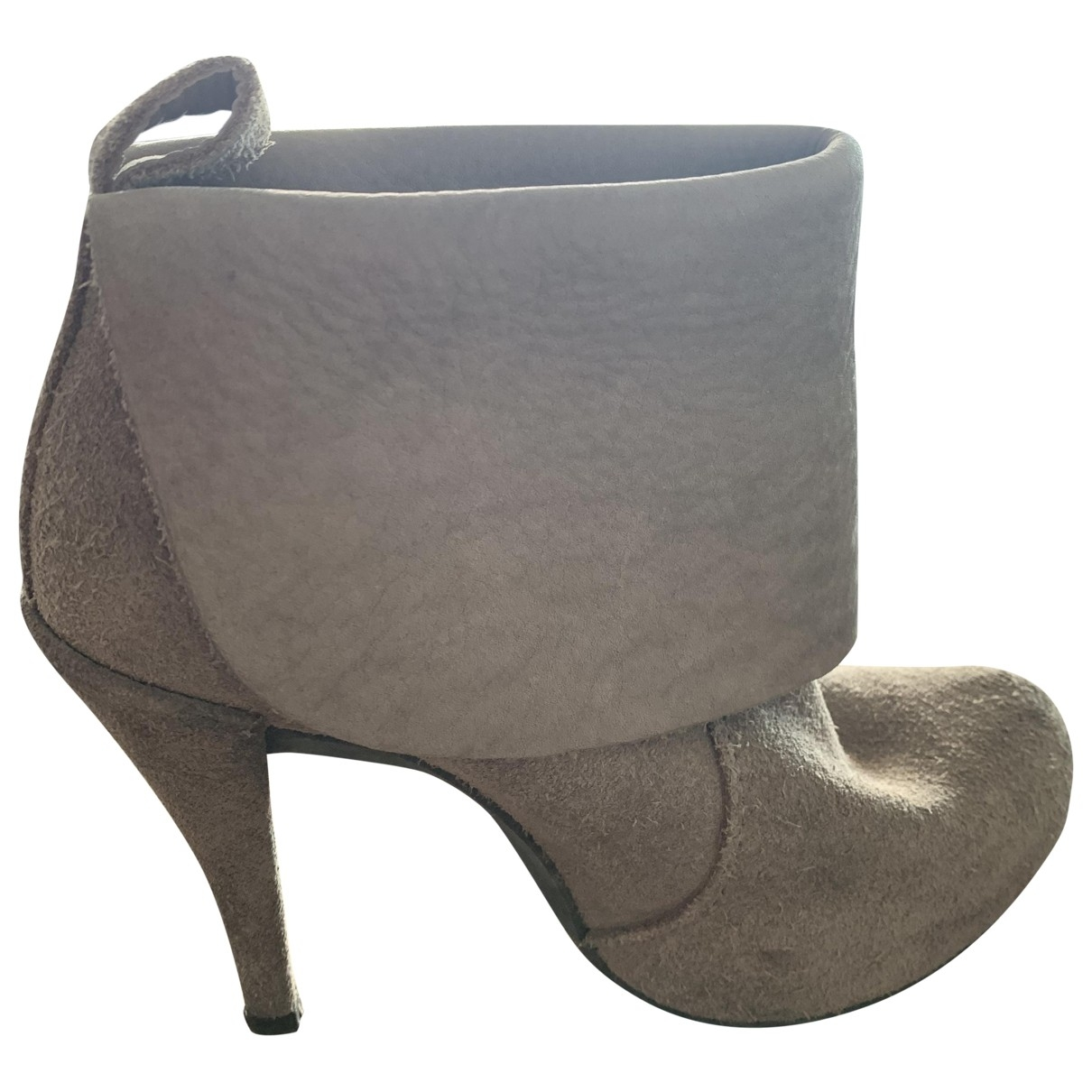 Pedro Garcia \N Suede Ankle boots for Women 37 IT