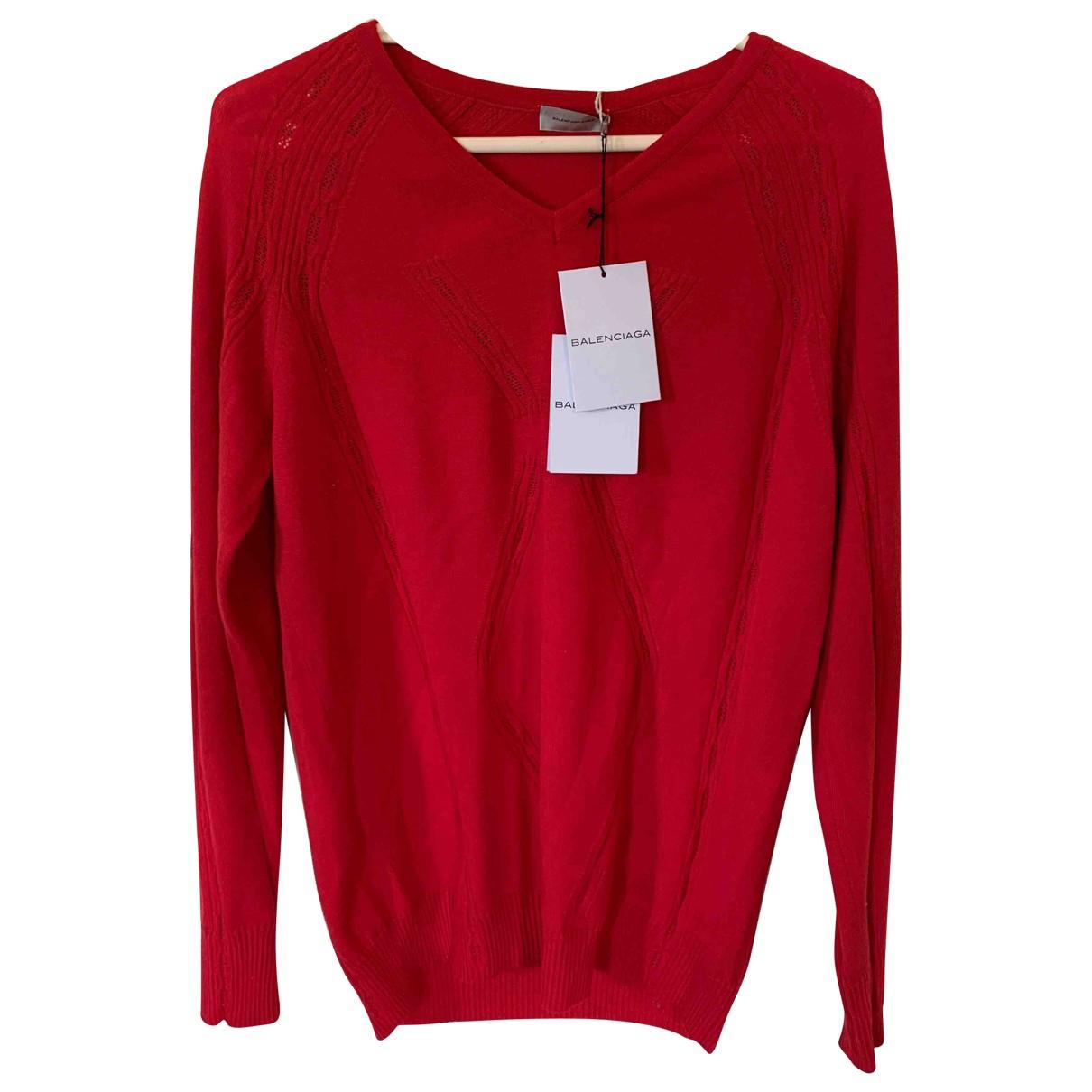 Balenciaga N Red Wool Knitwear & Sweatshirts for Men M International