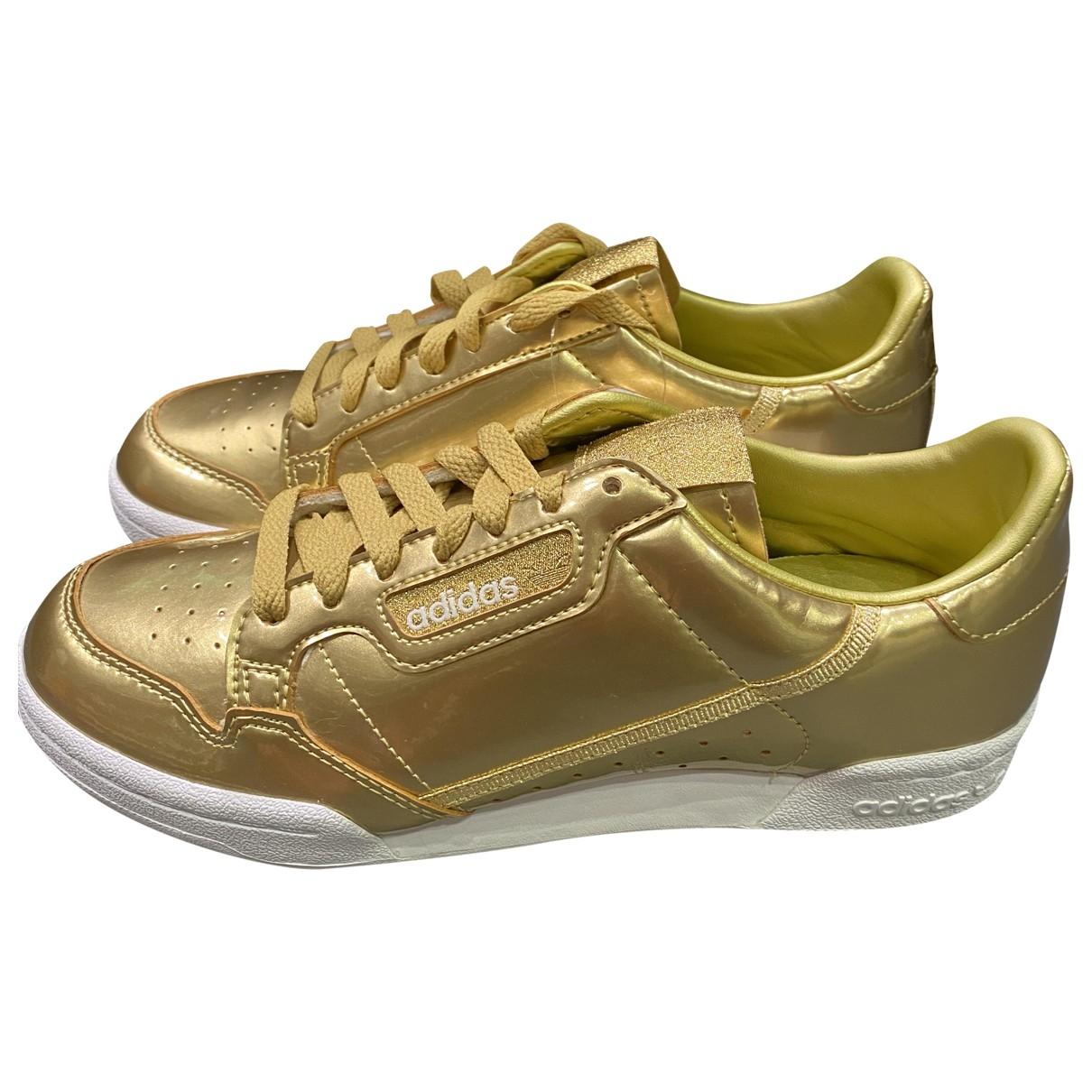 Adidas - Baskets Continental 80 pour femme en cuir - dore