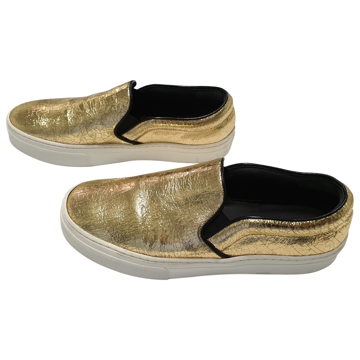 Celine \N Gold Leather Trainers for Women 37 EU