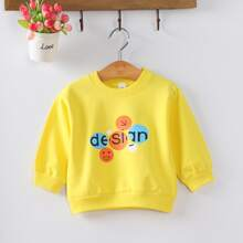 Toddler Girls Letter Graphic Sweatshirt