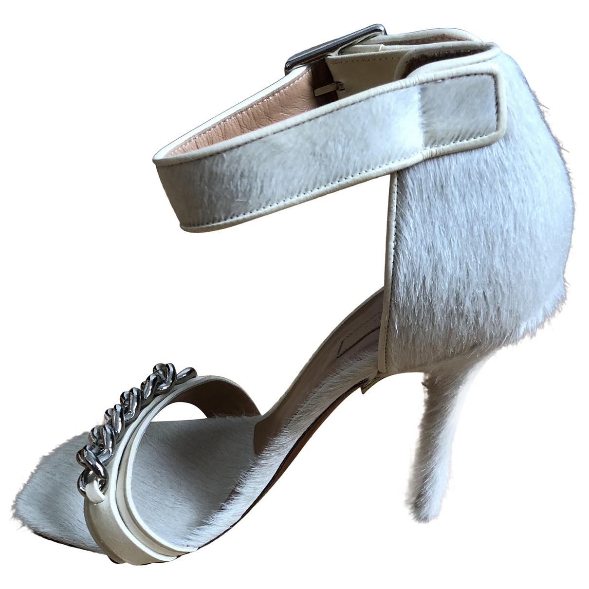 Celine \N White Pony-style calfskin Heels for Women 38 EU