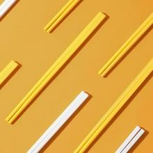 10 Paare einfarbige Essstaebchen Set