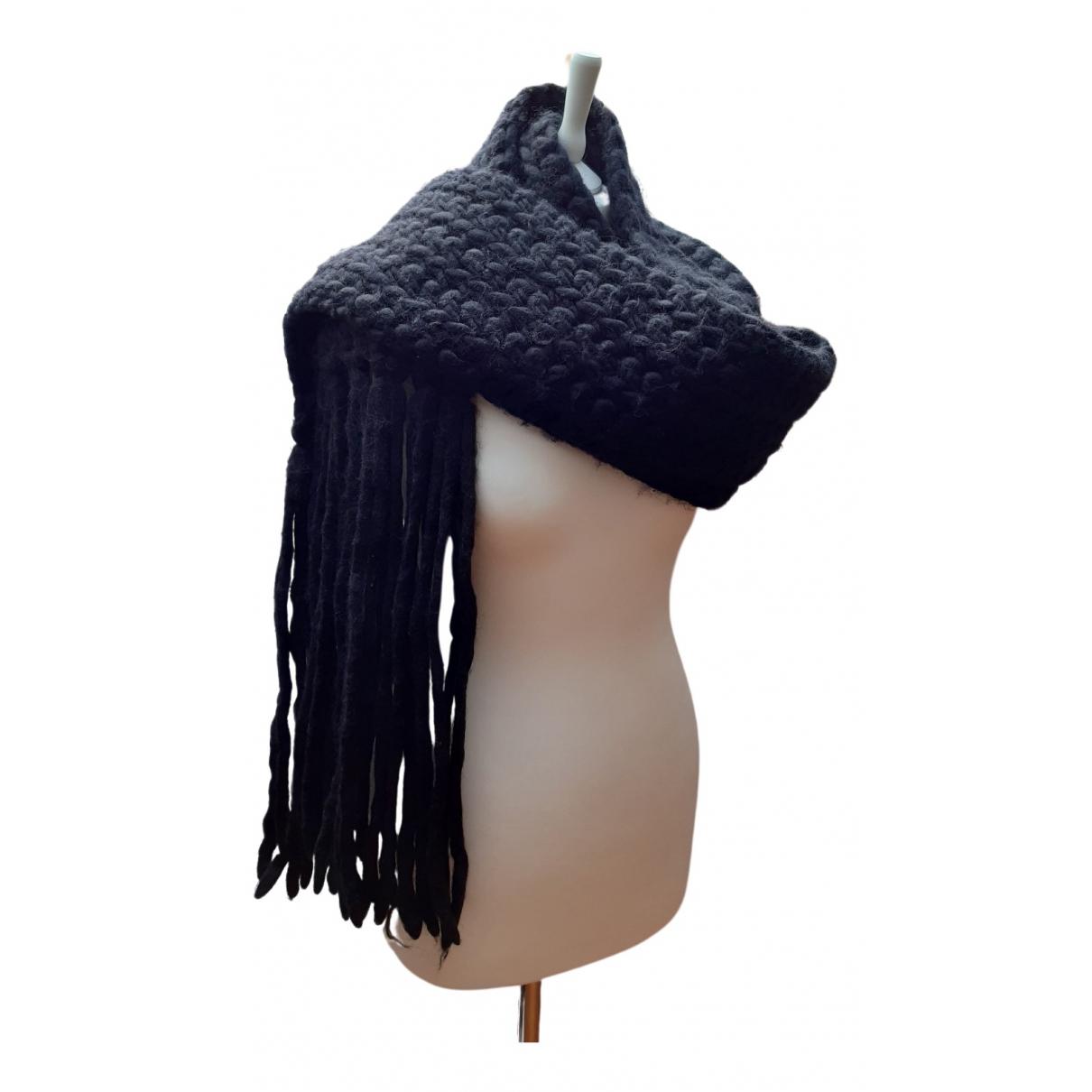 Patrizia Pepe \N Schal in  Schwarz Wolle