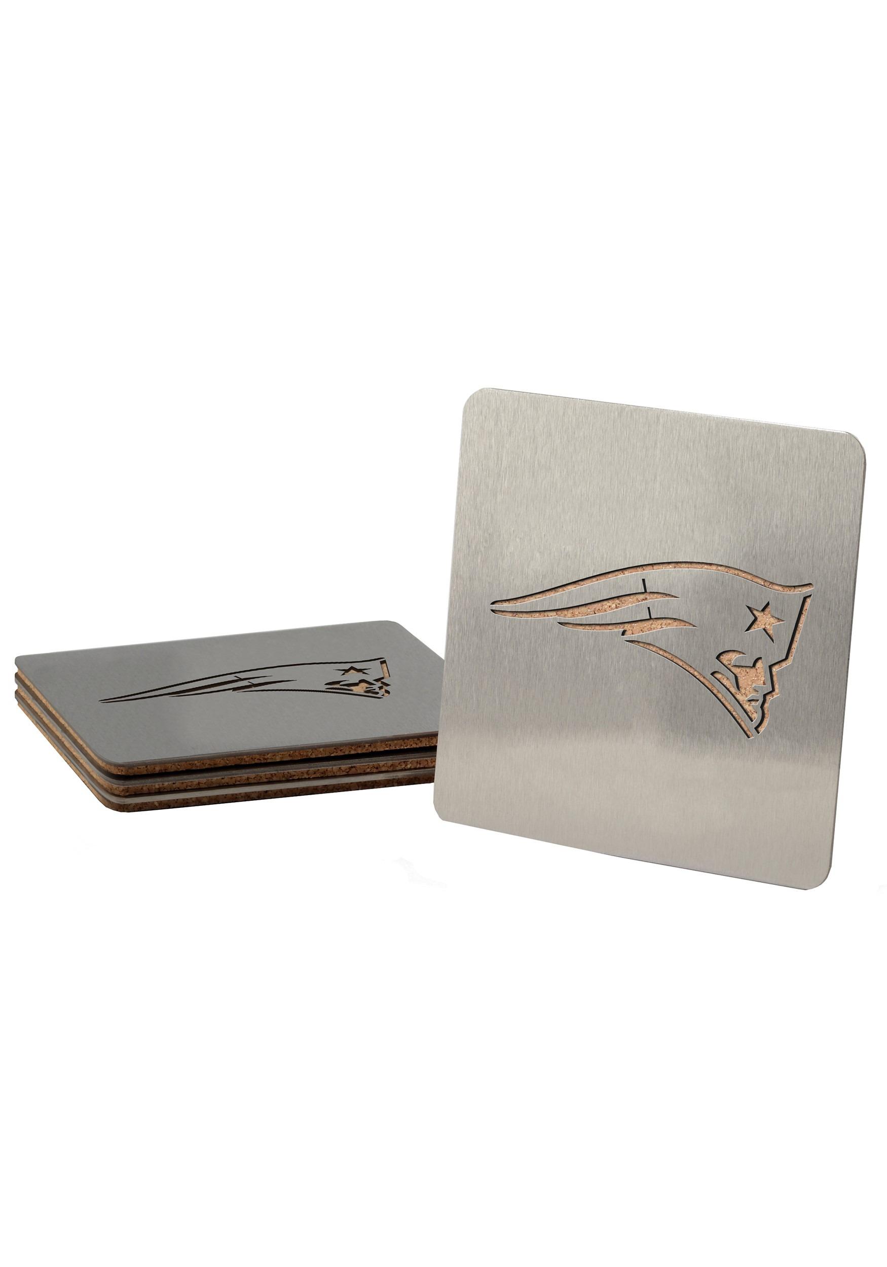 New England Patriots Boasters 4 Pack Drink Coaster Set
