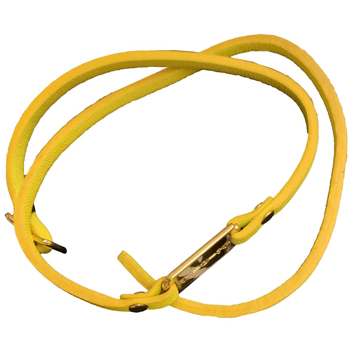 Alexander Mcqueen \N Armband in  Gelb Leder