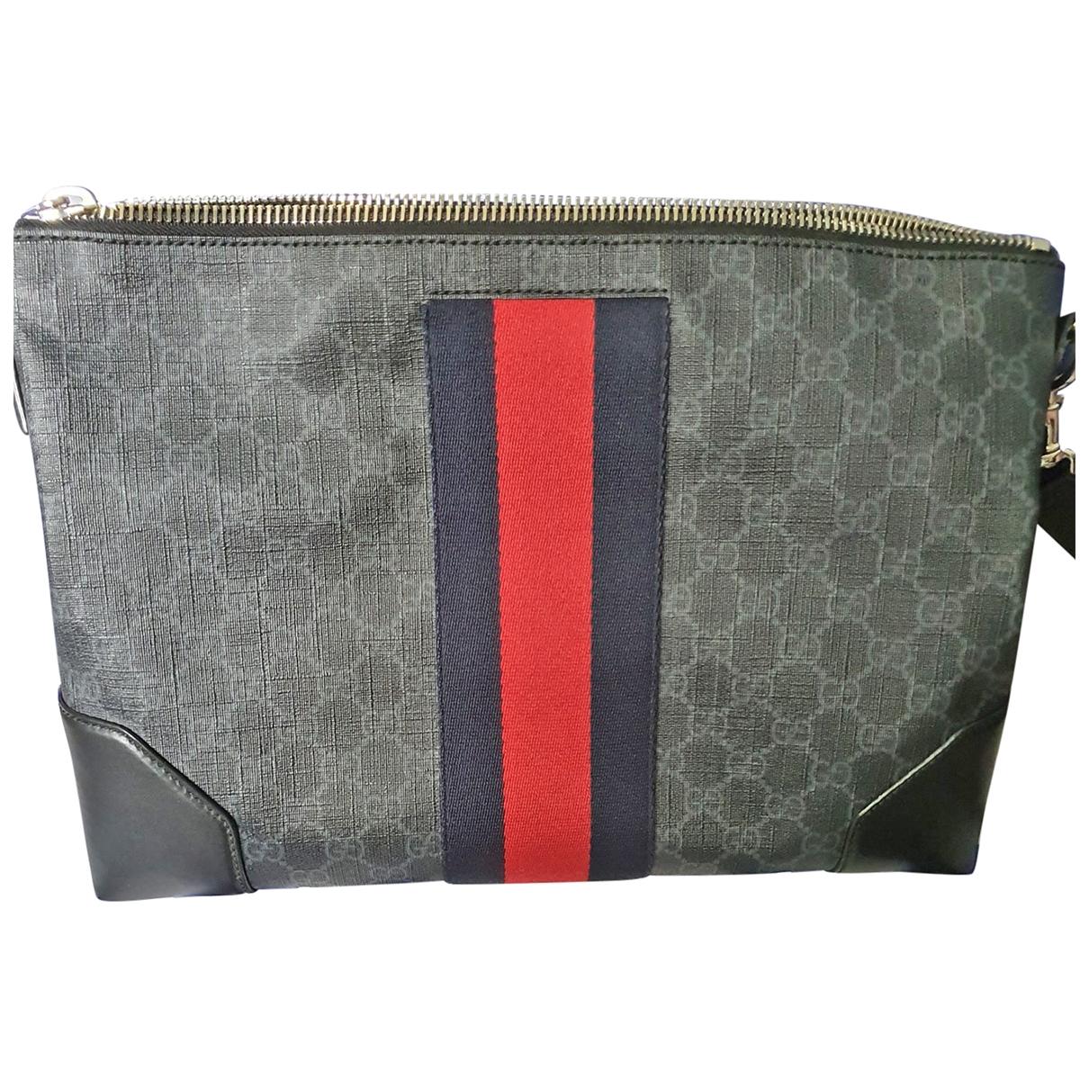 Gucci \N Anthracite Cloth bag for Men \N