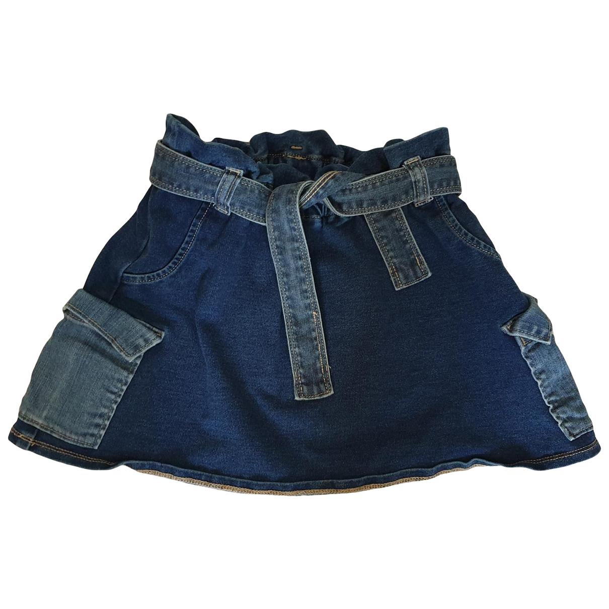 - Jupe   pour enfant en coton - bleu