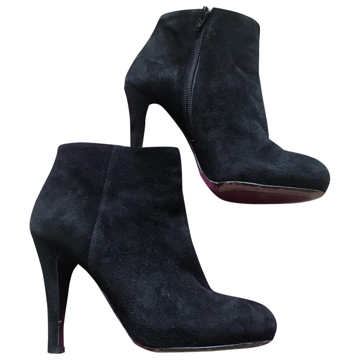 Jaime Mascaro \N Black Suede Ankle boots for Women 39 EU