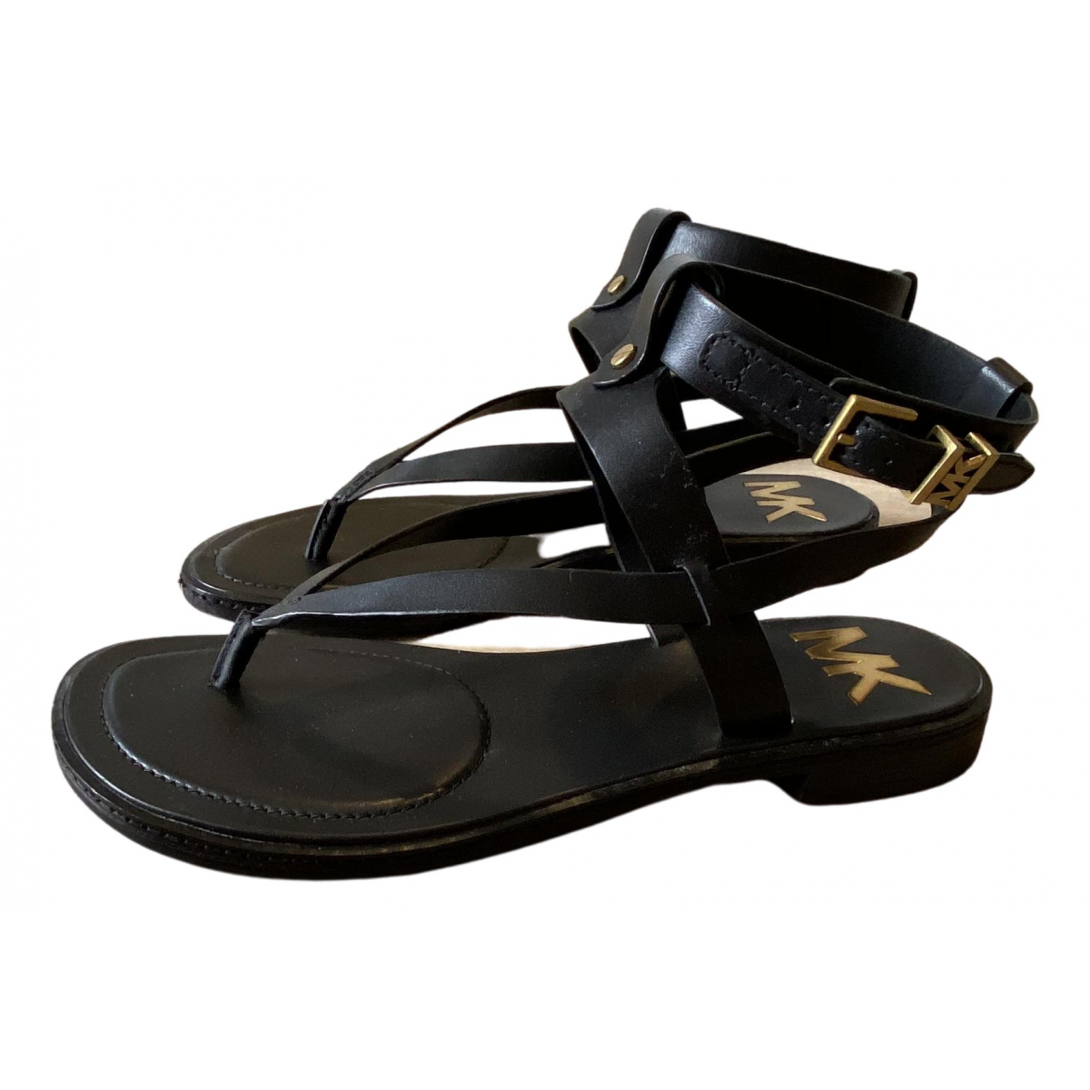 Michael Kors \N Black Leather Sandals for Women 37.5 EU
