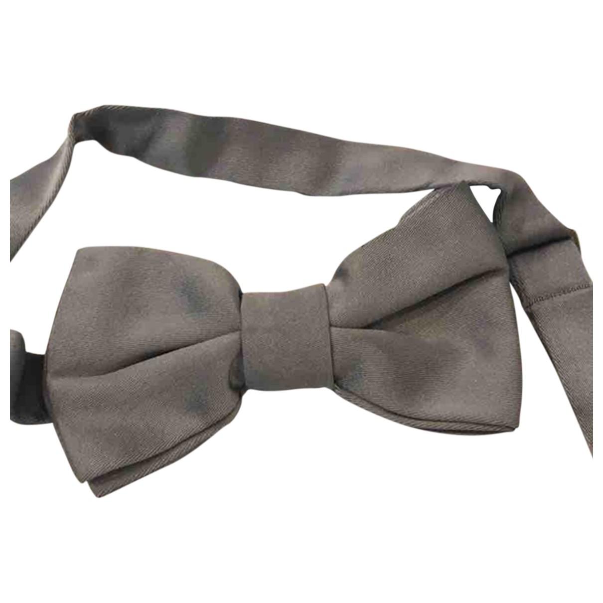 Valentino Garavani \N Krawatten in  Grau Seide