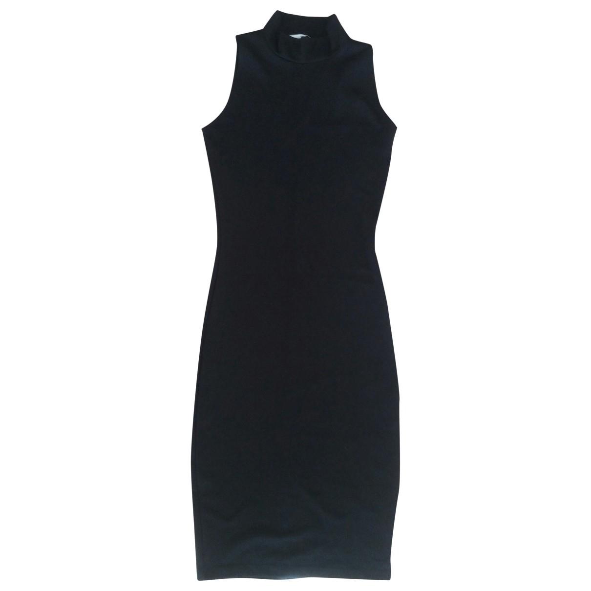 Zara \N Black Cotton - elasthane dress for Women S International