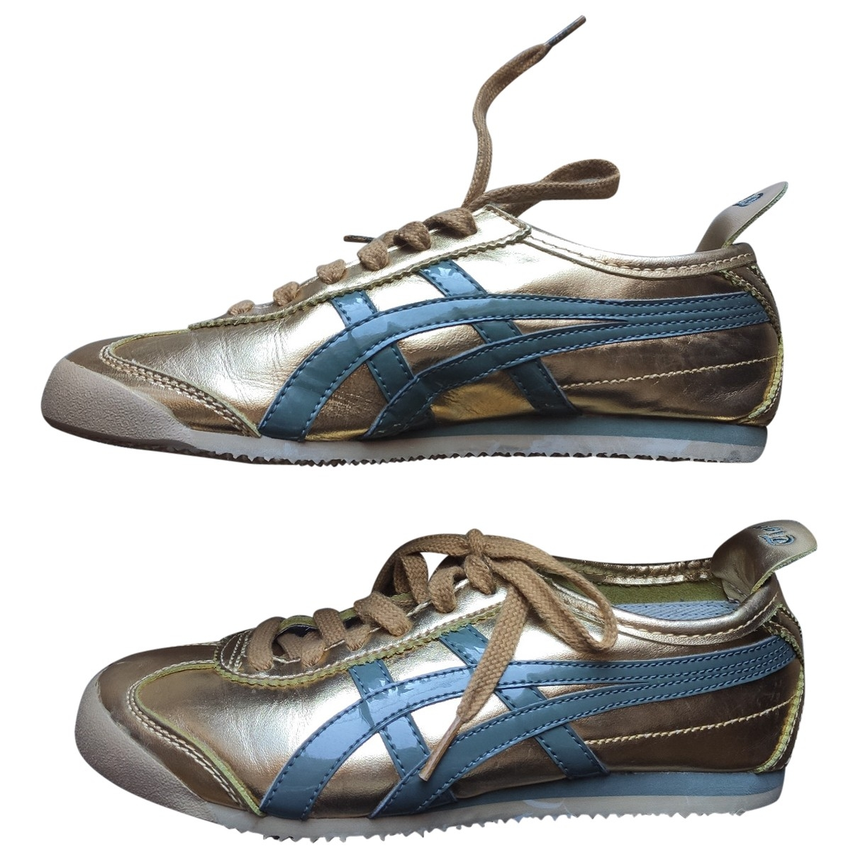 Onitsuka Tiger \N Gold Leather Trainers for Women 37 EU