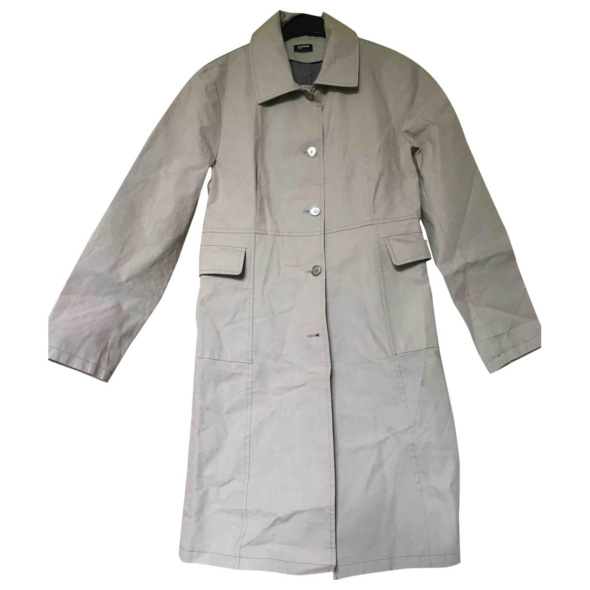 Jil Sander - Veste   pour femme en coton - beige