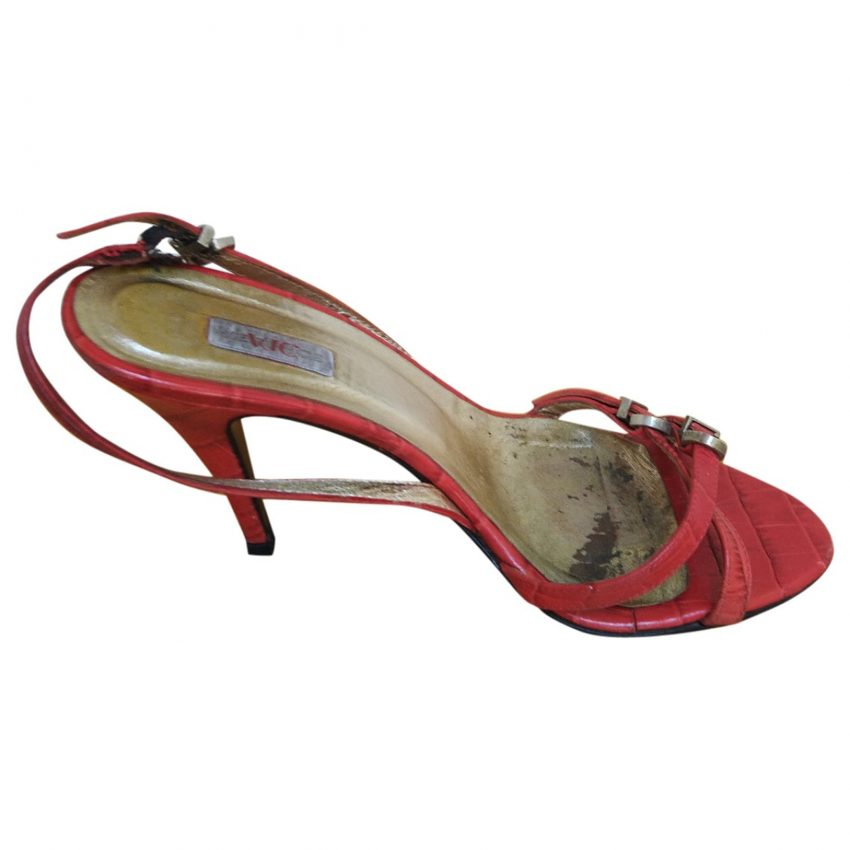 Versace Jeans \N Red Leather Sandals for Women 37.5 EU