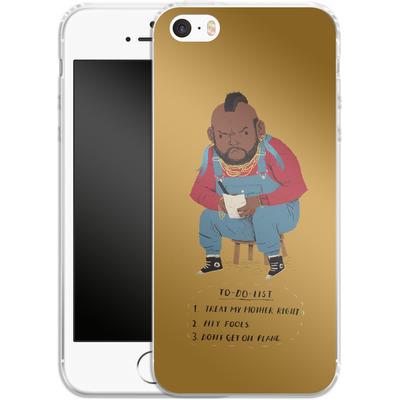 Apple iPhone 5s Silikon Handyhuelle - Mr T To Do List von Louis Ros