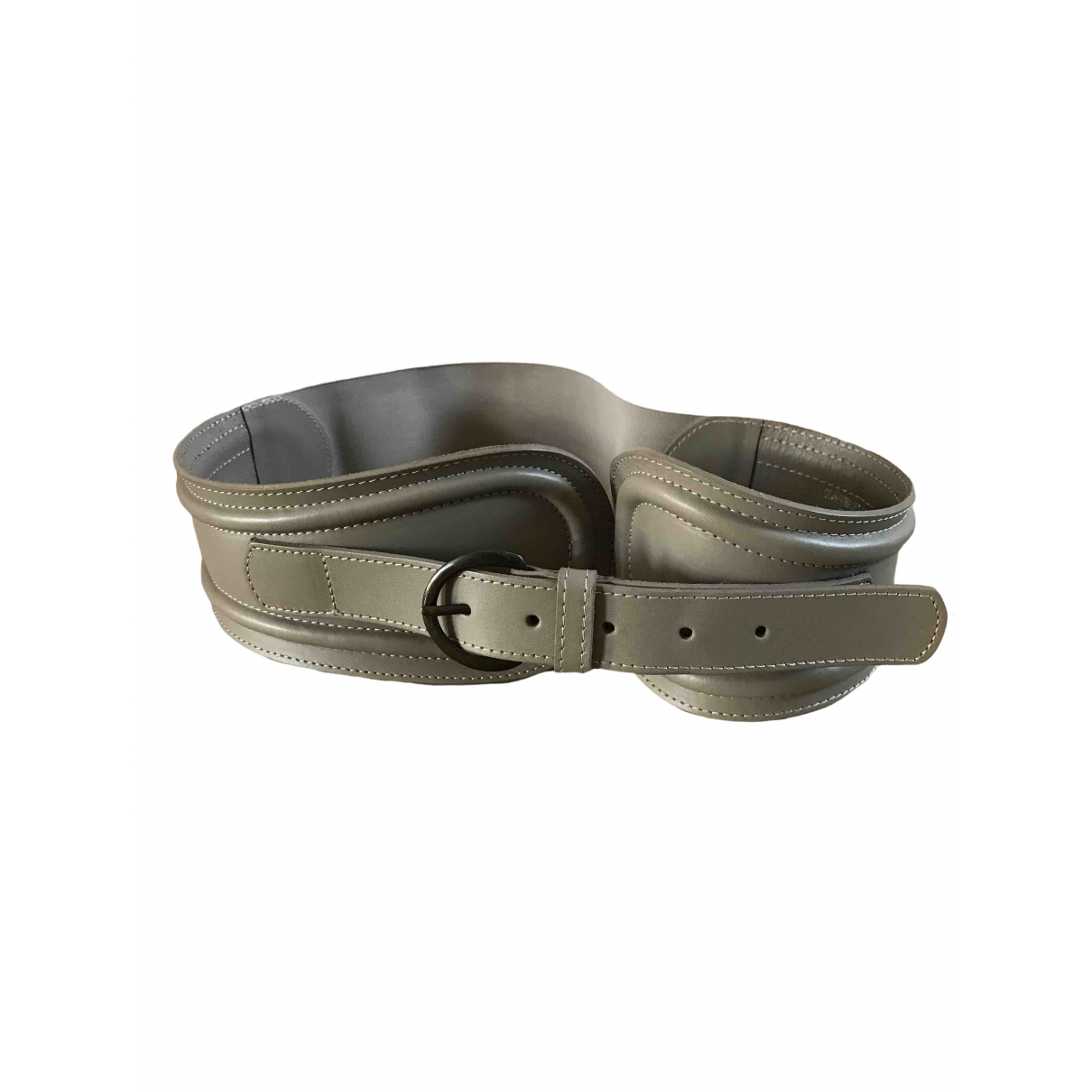 Comptoir Des Cotonniers \N Grey Leather belt for Women L International