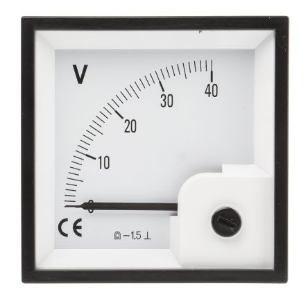 RS PRO DC Analogue Panel Voltmeter, 40V, 68 x 68 mm, ±1.5 % Accuracy