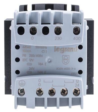 Legrand 100VA Control Panel Transformers, 230V ac, 400V ac Primary 2 x, 12V ac Secondary