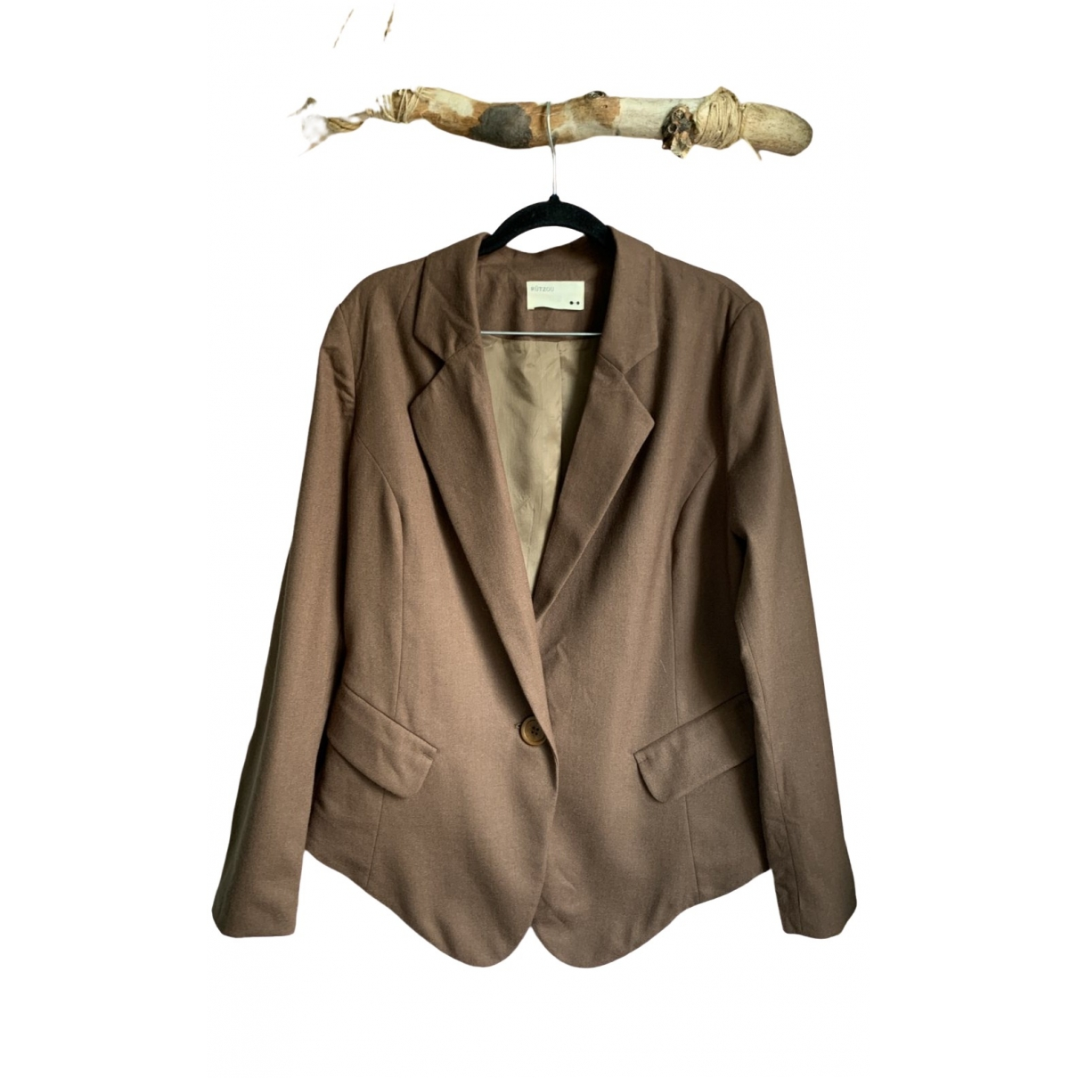 Non Signé / Unsigned \N Camel Wool jacket for Women 40 IT