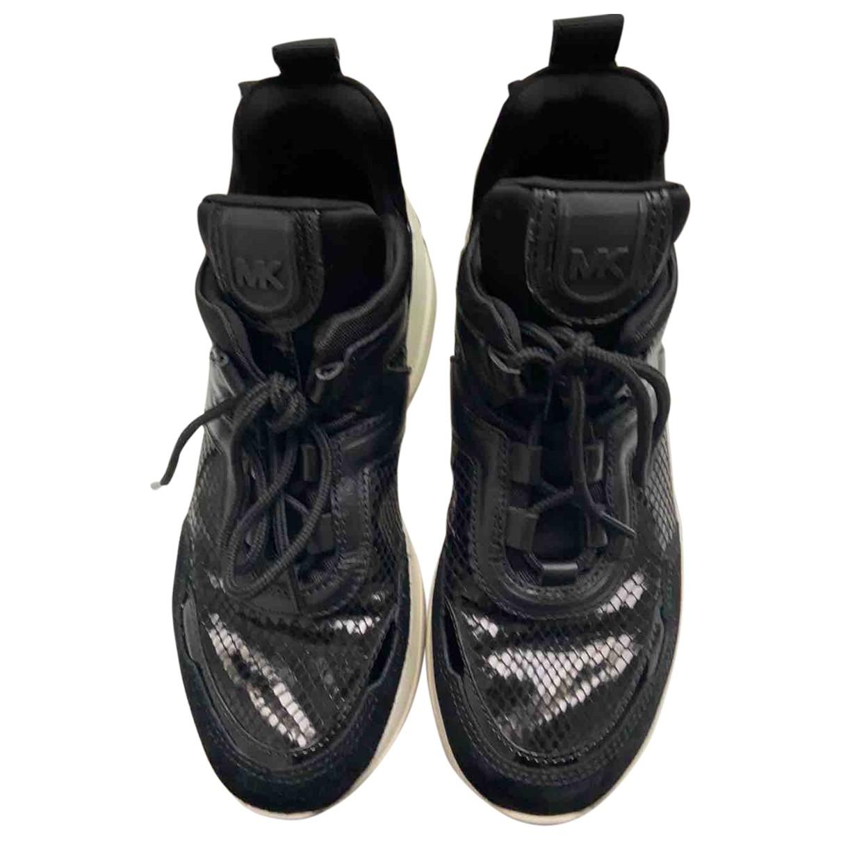 Michael Kors N Black Leather Trainers for Women 36 EU