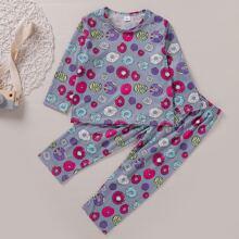 Schlafanzug Set mit Krapfen Muster